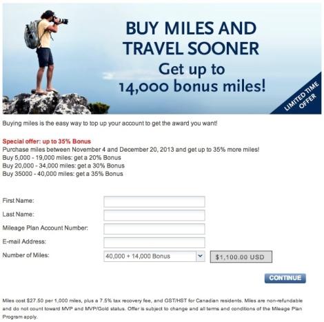 Alaska Air Buy Miles Promo