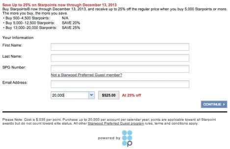 Buy Starpoints Promo