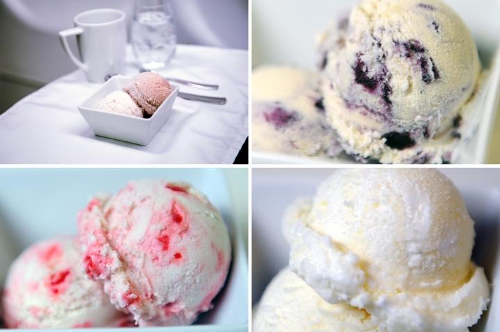 Virgin America ice cream flavours