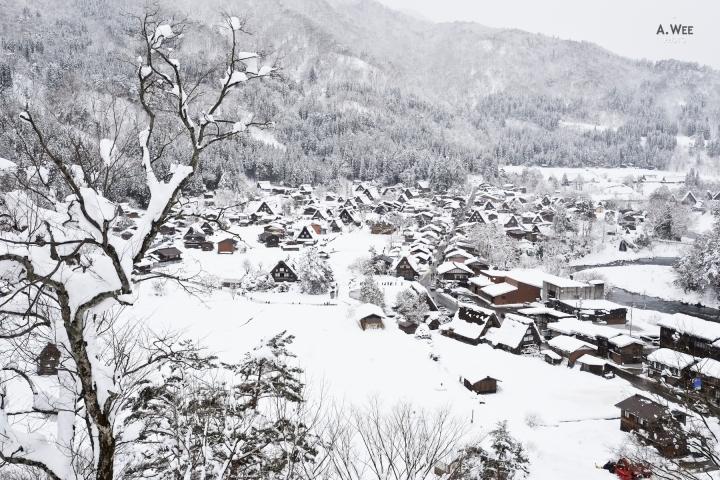 Snowboarding in Nagano: Shirakawa-go, a UNESCO World HeritageSite