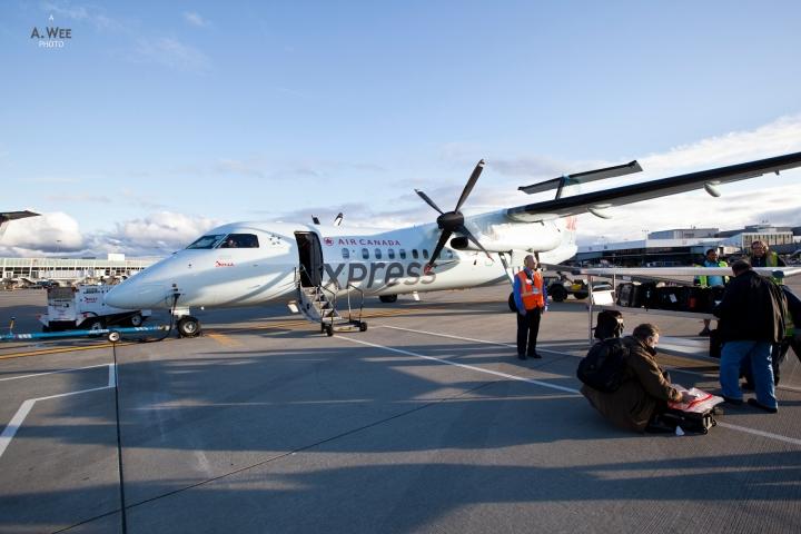Air Canada Dash 8 from SEA to YVR – Spring Snowboarding inColorado