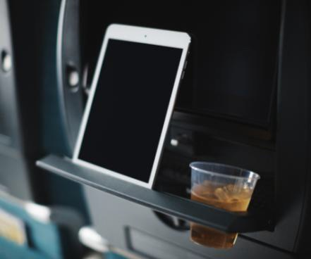 Tablet holder on the A350