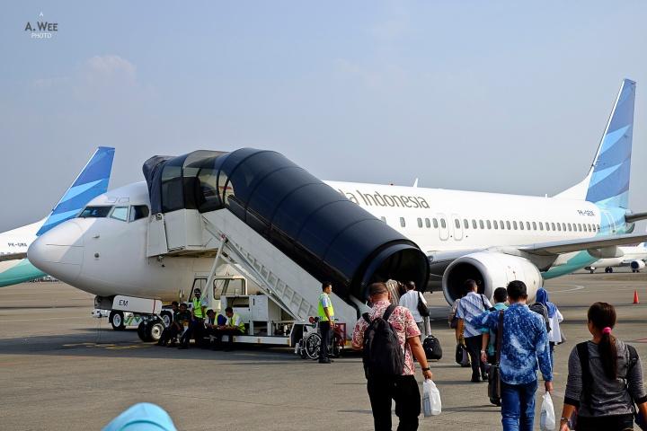 Garuda Indonesia 737-800 Economy Class from Yogyakarta toJakarta