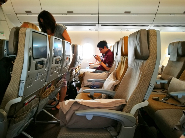 First Flight on Singapore Airlines AirbusA350
