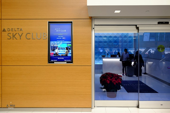 Delta Airlines Sky Club in Detroit Metro Airport Concourse A