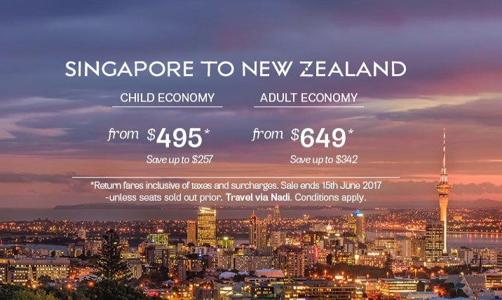 Fly through Fiji for cheap flights to NewZealand