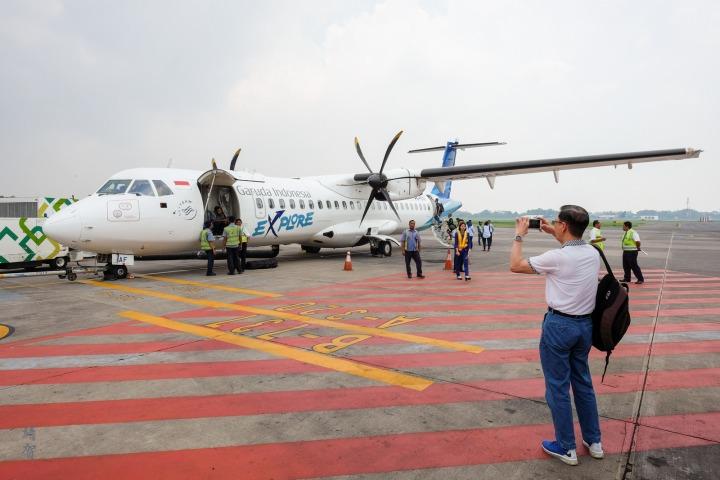 Garuda Indonesia ATR72 from Surabaya toBanyuwangi