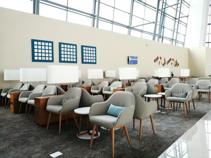 Garuda Indonesia First and Business Class Lounge at Denpasar Ngurah Rai International Terminal in Bali