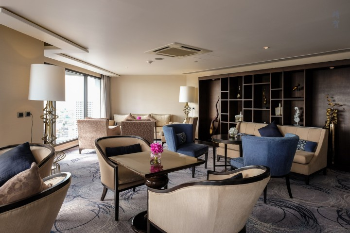 Suite with a River View at the Royal Orchid Sheraton in Bangkok