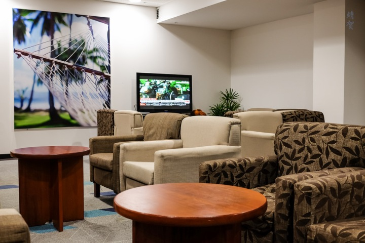 Fiji Airways temporary Tabua Club in Nadi International Airport