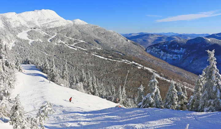 Spring time skiing in Stowe