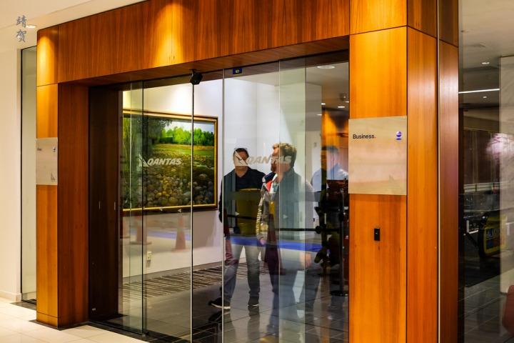 Qantas Business Class Lounge in AucklandAKL