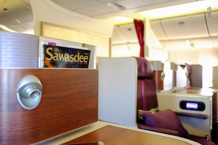 Thai Airways Business Class on the 777-300ER from Jakarta CGK to Bangkok BKK