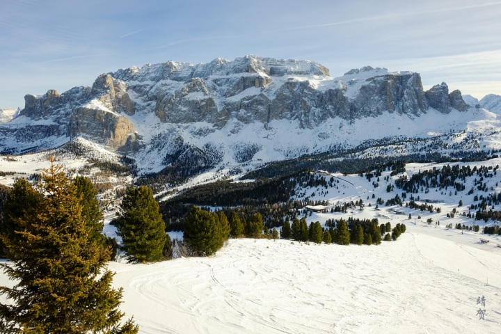Winter in Val Gardena, where the View makes up for the Skiing in theDolomites