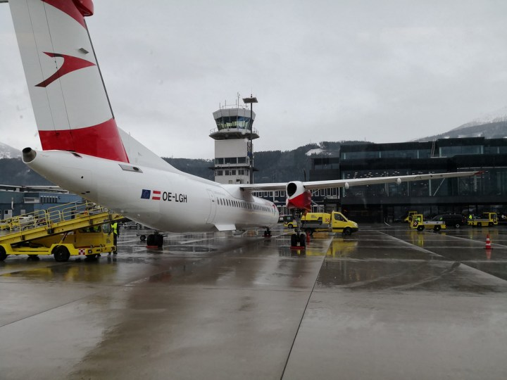 Austrian Airlines Bombardier Dash 8 (Q400) Business Class from Innsbruck to Frankfurt