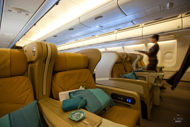 Singapore Airlines Airbus A330 Business Class from Jakarta to Singapore