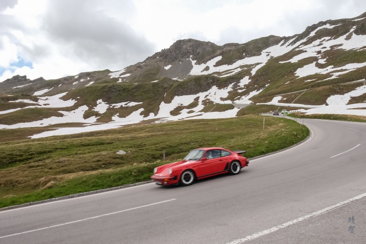 Driving across the Grossglockner Hochalpenstrasse in Austria