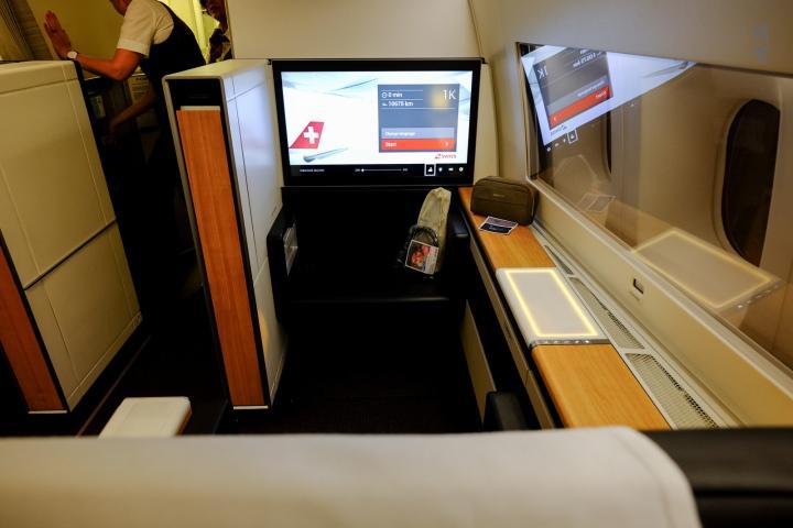 Swiss First Class on the 777-300ER from Zurich toSingapore