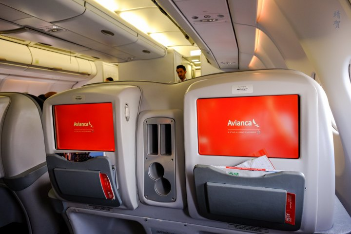 Avianca A330 Business Class from Lima to Bogotá