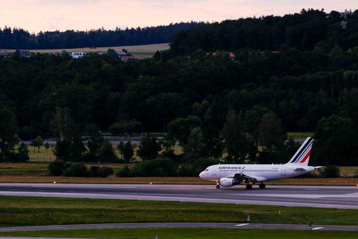 Air France Economy Class on the Airbus A318 from Zurich toParis