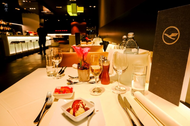 Dining at the Lufthansa First Class Terminal in Frankfurt